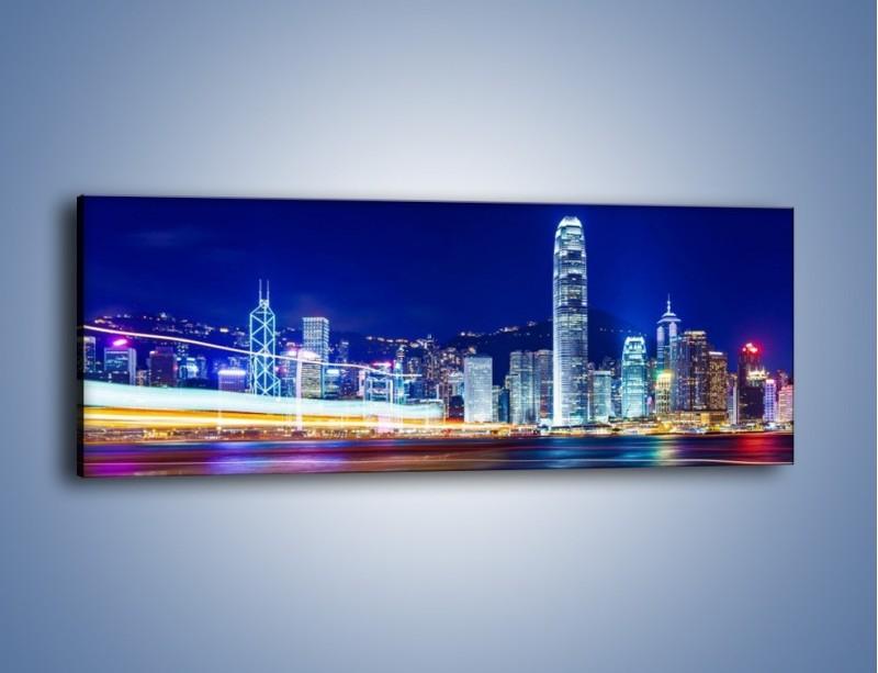 Obraz na płótnie – Panorama Hong Kongu – jednoczęściowy panoramiczny AM499