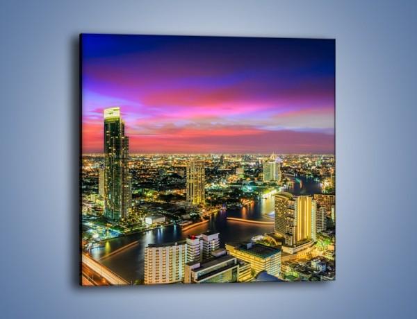 Obraz na płótnie – Zmierzch nad Bangkokiem – jednoczęściowy kwadratowy AM773