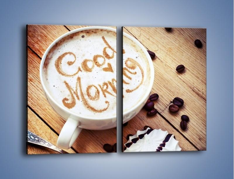 Obraz na płótnie – Kawa z bezą – dwuczęściowy prostokątny pionowy JN605