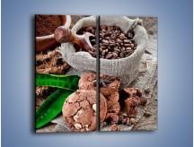 Obraz na płótnie – Ciasteczka idealne do kawy – dwuczęściowy prostokątny pionowy JN614