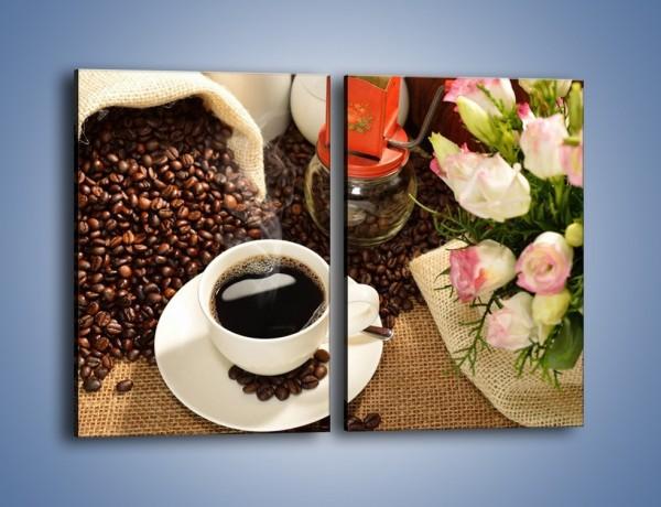 Obraz na płótnie – Kawa na przyjęciu – dwuczęściowy prostokątny pionowy JN624
