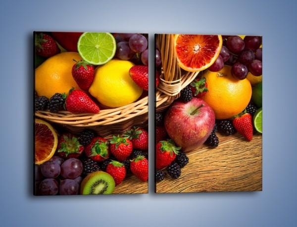 Obraz na płótnie – Kosz zatopiony w owocach – dwuczęściowy prostokątny pionowy JN635