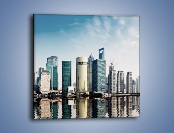 Obraz na płótnie – Drapacze chmur w Szanghaju – jednoczęściowy kwadratowy AM776