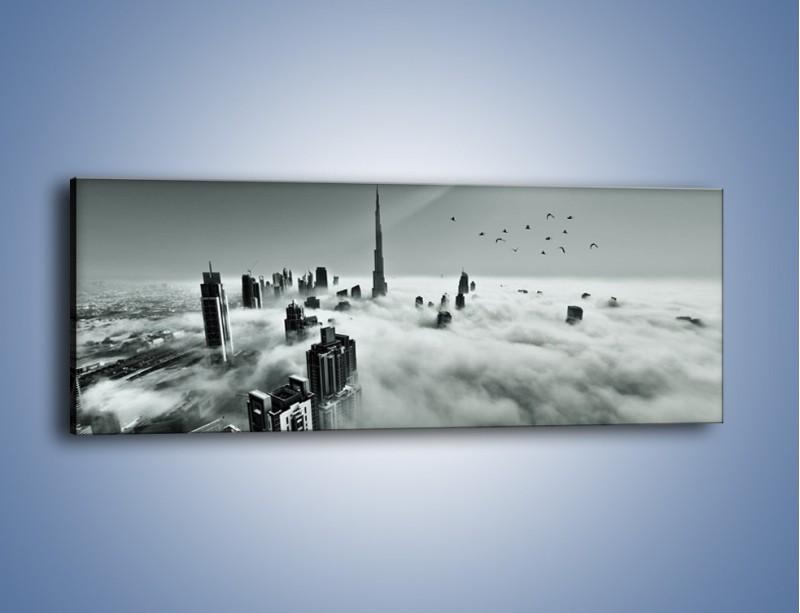 Obraz na płótnie – Centrum Dubaju we mgle – jednoczęściowy panoramiczny AM502