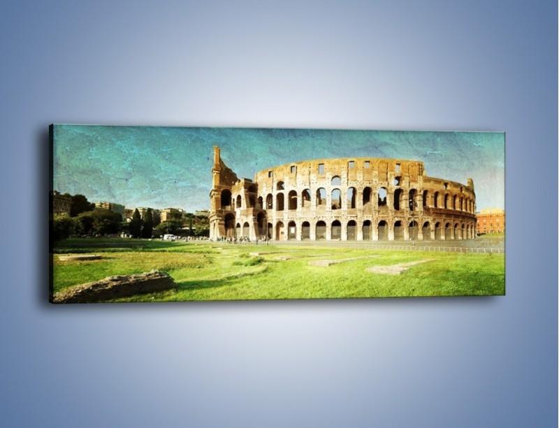 Obraz na płótnie – Koloseum w stylu vintage – jednoczęściowy panoramiczny AM503