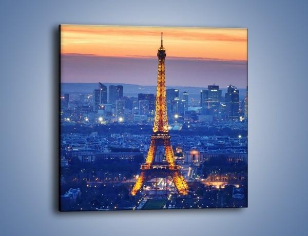 Obraz na płótnie – Światła Wieży Eiffla – jednoczęściowy kwadratowy AM778