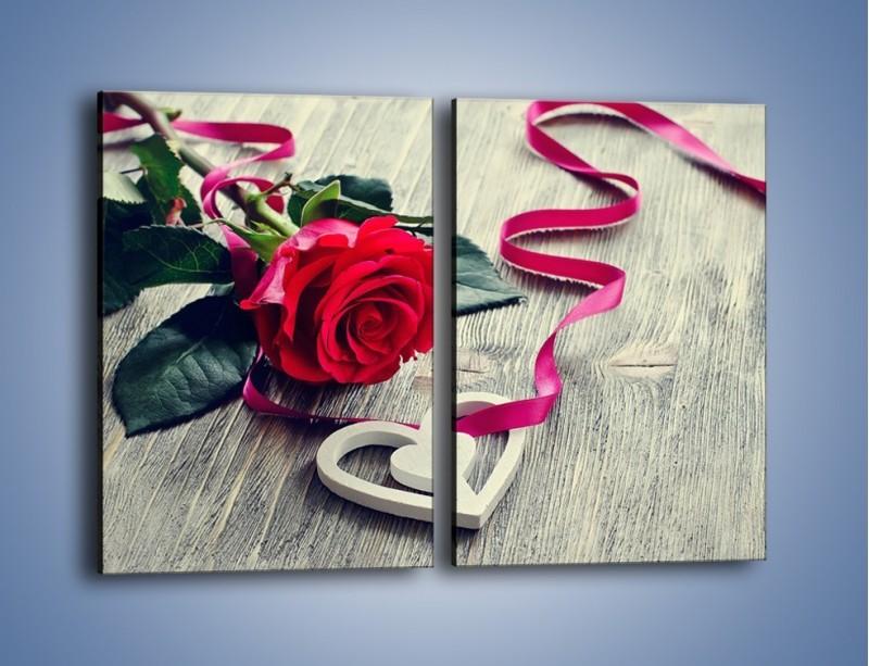 Obraz na płótnie – Od serca aż po różę – dwuczęściowy prostokątny pionowy K1013