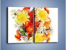 Obraz na płótnie – Bukiecik kwiatów z ogródka – dwuczęściowy prostokątny pionowy K118