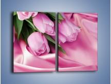 Obraz na płótnie – Atłas wśród tulipanów – dwuczęściowy prostokątny pionowy K152