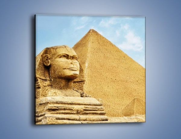 Obraz na płótnie – Sfinks i piramidy – jednoczęściowy kwadratowy AM782
