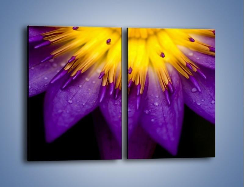 Obraz na płótnie – Baśniowy kwiat z tajemnicą – dwuczęściowy prostokątny pionowy K189