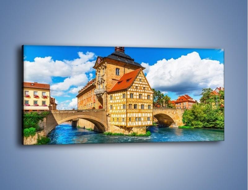 Obraz na płótnie – Ratusz w mieście Bamberg – jednoczęściowy panoramiczny AM513