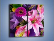 Obraz na płótnie – Barwna letnia wiązanka – dwuczęściowy prostokątny pionowy K460