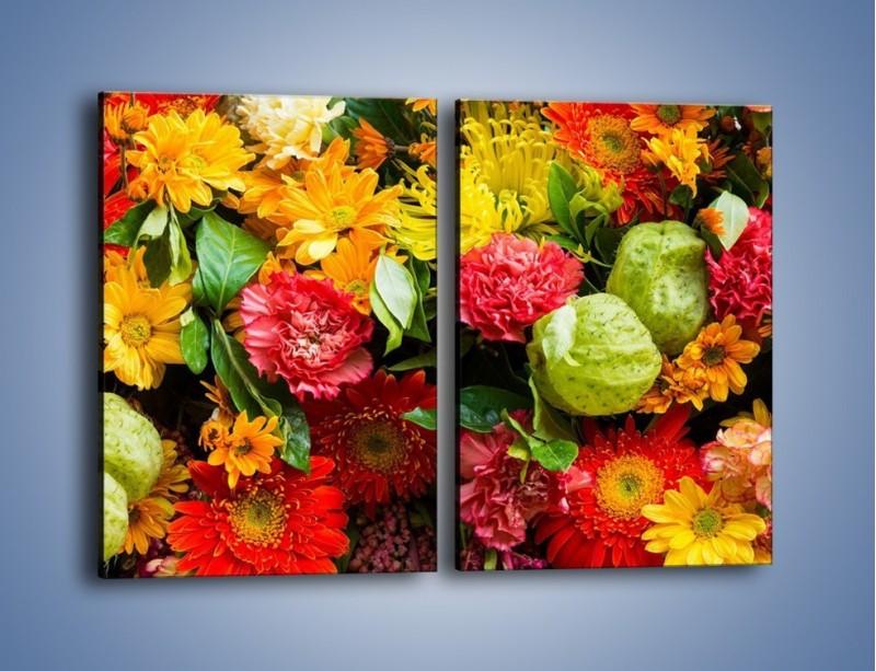 Obraz na płótnie – Bukiet pełen soczystych kolorów – dwuczęściowy prostokątny pionowy K461