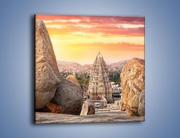 Obraz na płótnie – Świątynia Virupaksha w Indiach – jednoczęściowy kwadratowy AM787