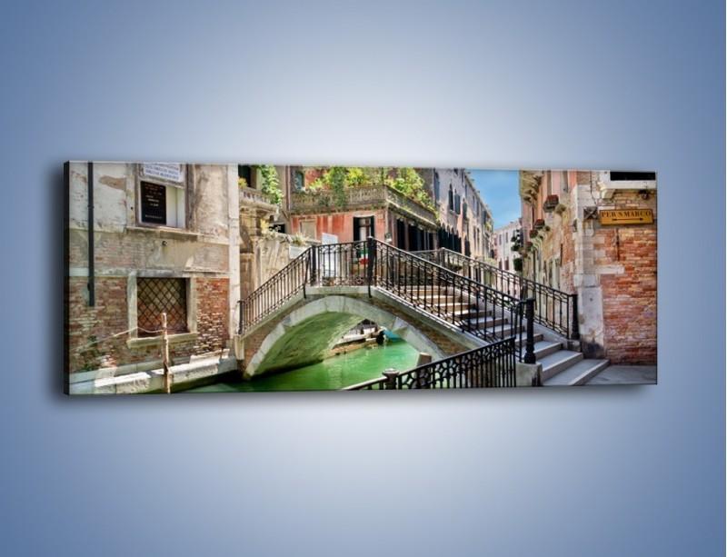 Obraz na płótnie – Wenecki most – jednoczęściowy panoramiczny AM523