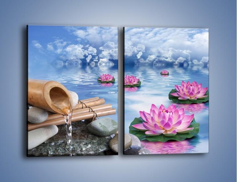 Obraz na płótnie – Baśniowy świat kwiatów – dwuczęściowy prostokątny pionowy K624