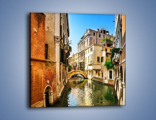 Obraz na płótnie – Romantyczny kanał w Wenecji – jednoczęściowy kwadratowy AM795