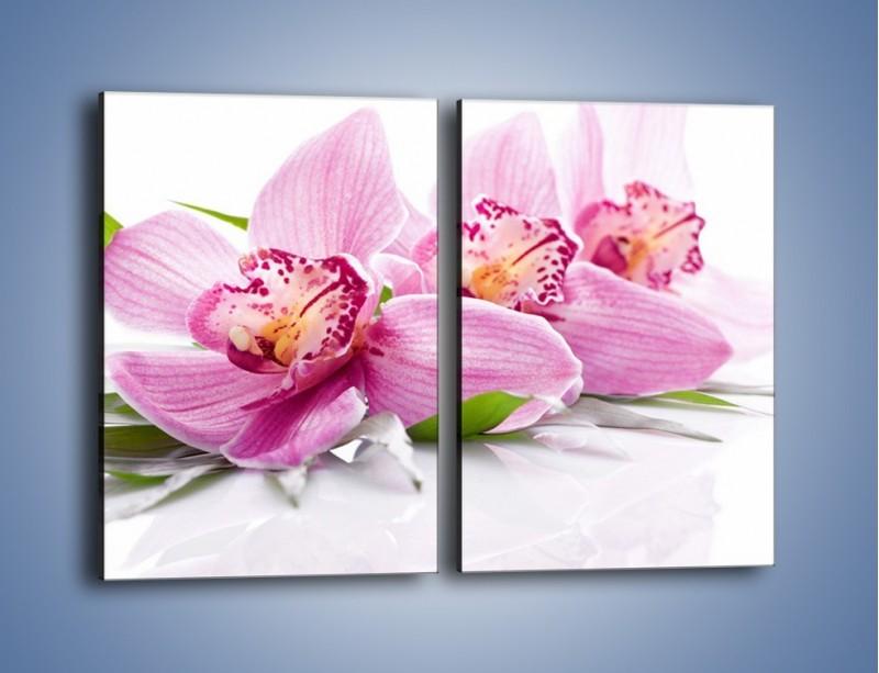 Obraz na płótnie – Biały kwiatowy stół – dwuczęściowy prostokątny pionowy K688