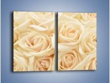 Obraz na płótnie – Bukiet herbacianych róż – dwuczęściowy prostokątny pionowy K710