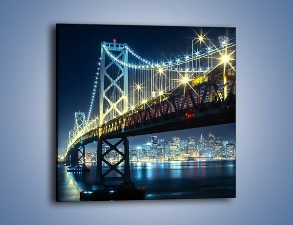Obraz na płótnie – Most Golden Gate na tle San Francisco – jednoczęściowy kwadratowy AM797