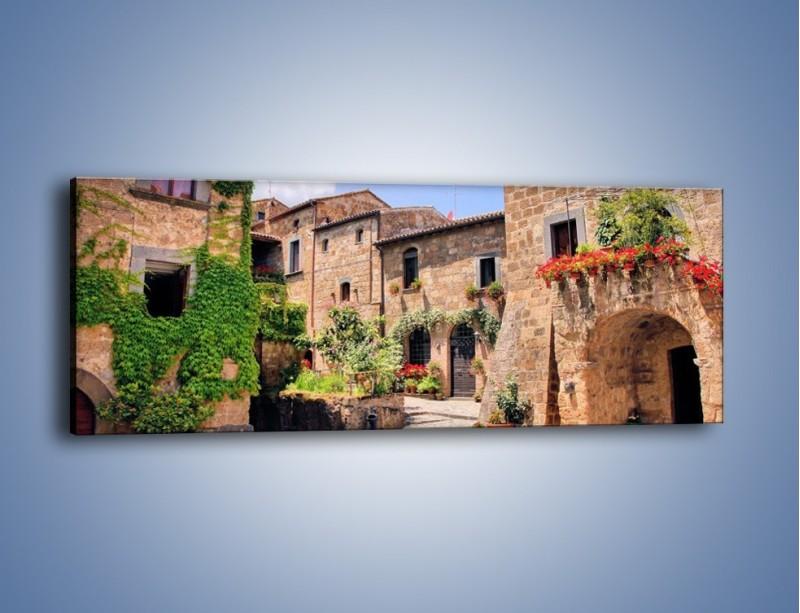 Obraz na płótnie – Romantyczna uliczka we Włoszech – jednoczęściowy panoramiczny AM533
