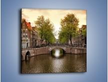 Obraz na płótnie – Amsterdamski kanał – jednoczęściowy kwadratowy AM800