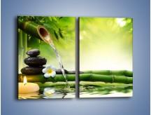 Obraz na płótnie – Bambus i źródło wody – dwuczęściowy prostokątny pionowy K930