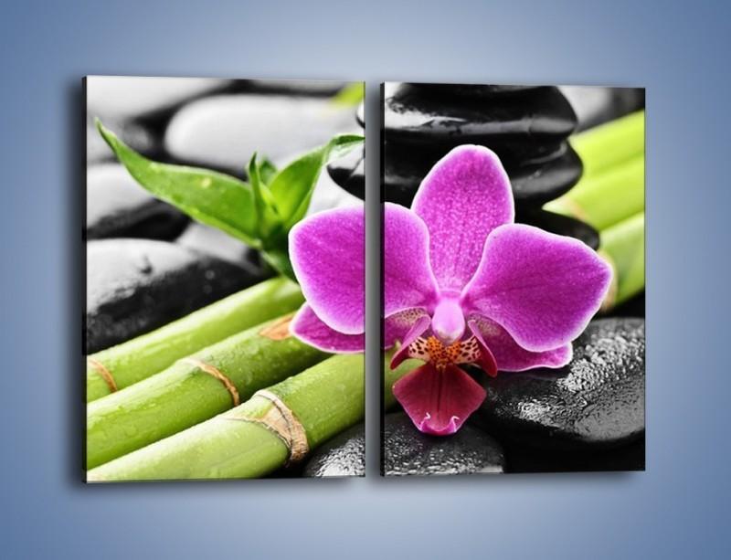 Obraz na płótnie – Idealnie ułożony kwiat – dwuczęściowy prostokątny pionowy K931