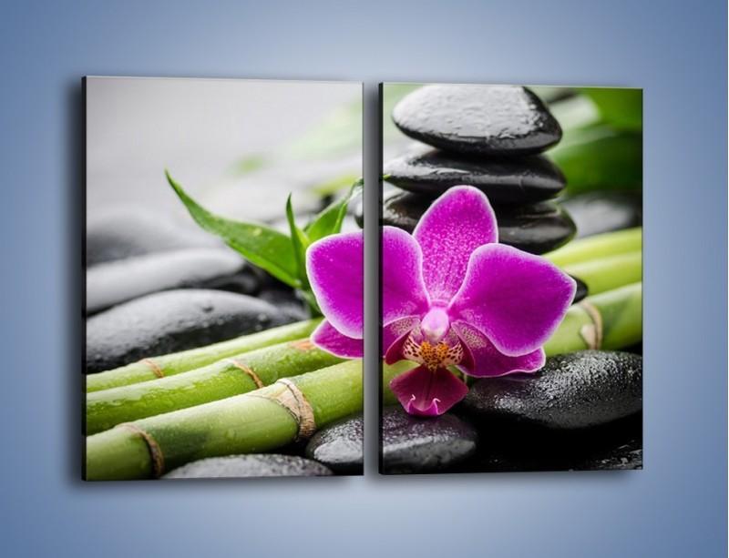 Obraz na płótnie – Bambusowe dodatki z przodu – dwuczęściowy prostokątny pionowy K954