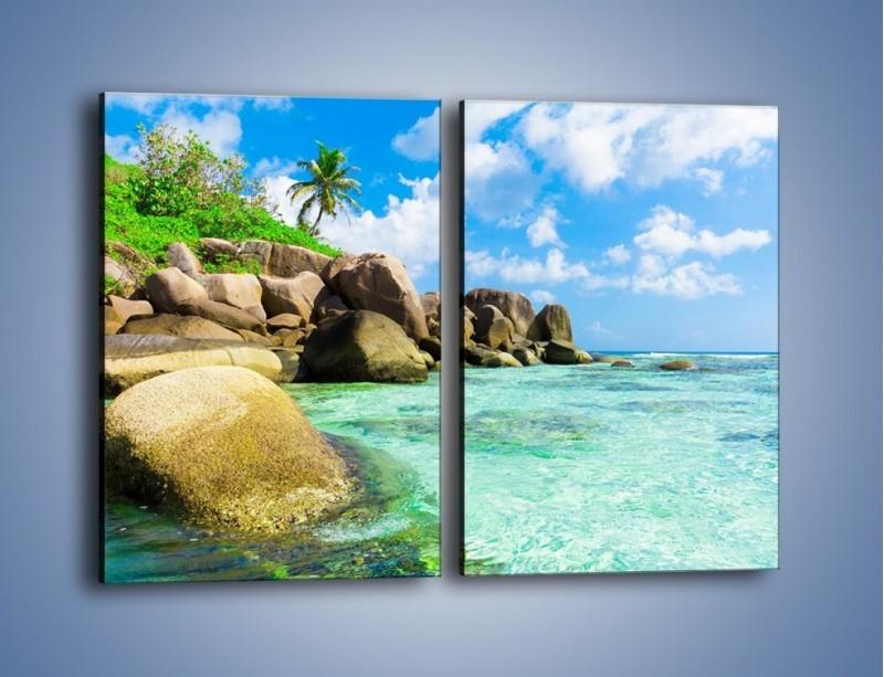Obraz na płótnie – Lazurowa woda w tropikach – dwuczęściowy prostokątny pionowy KN035