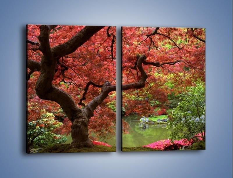 Obraz na płótnie – Pejzaż jak w raju – dwuczęściowy prostokątny pionowy KN069