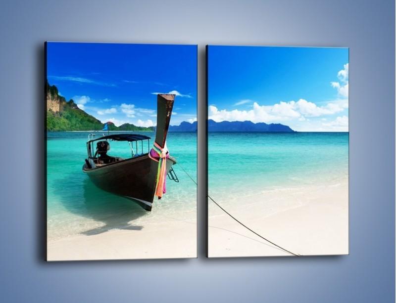 Obraz na płótnie – Wodny transport w tajlandii – dwuczęściowy prostokątny pionowy KN083