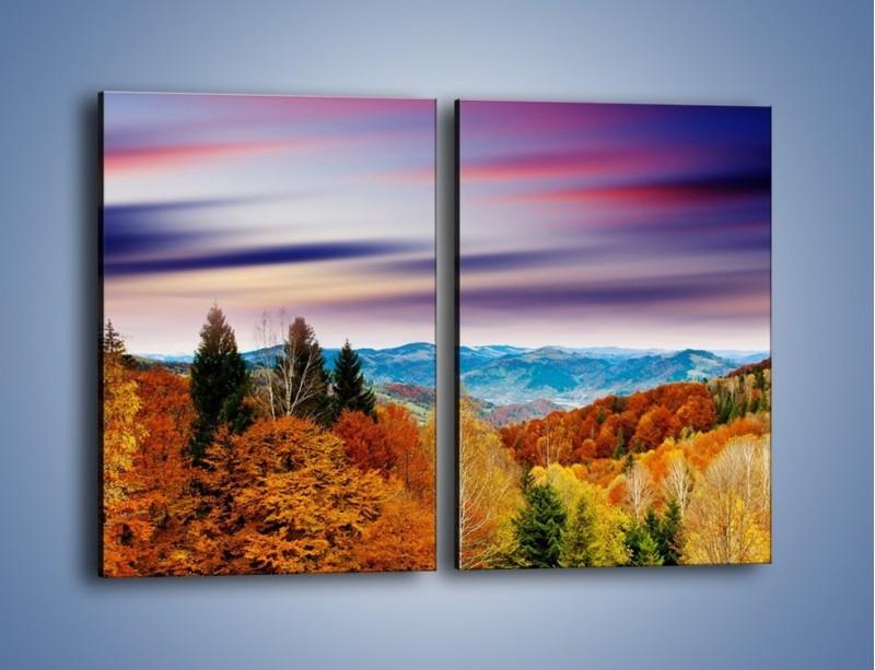 Obraz na płótnie – Drzewa w kolorach jesieni – dwuczęściowy prostokątny pionowy KN099