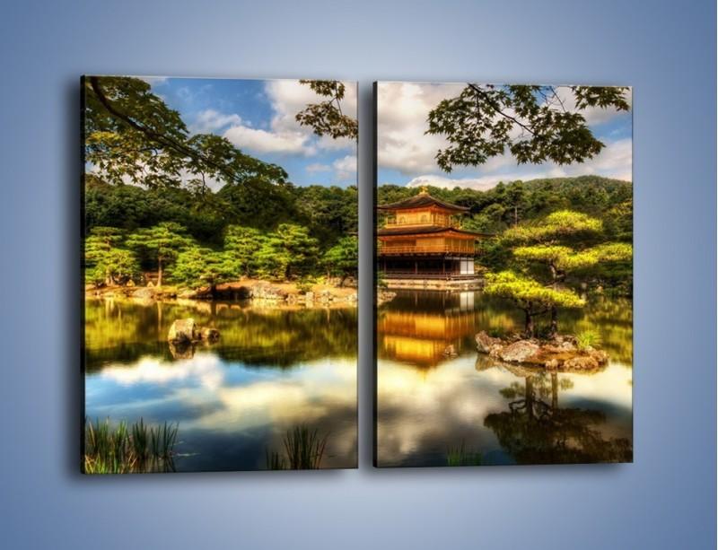 Obraz na płótnie – Widok z domu na wodę – dwuczęściowy prostokątny pionowy KN1030