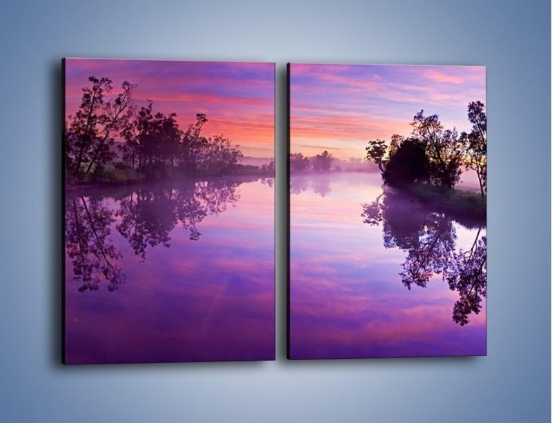Obraz na płótnie – Fiolet w wodzie i na niebie – dwuczęściowy prostokątny pionowy KN1046