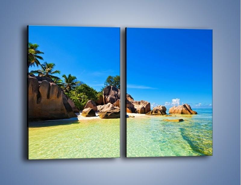 Obraz na płótnie – Bezludna wyspa i ja – dwuczęściowy prostokątny pionowy KN1058