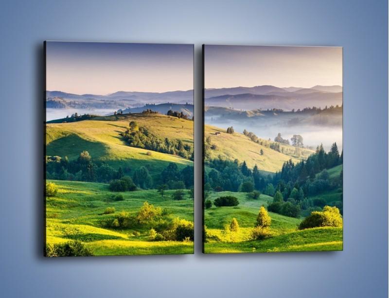 Obraz na płótnie – Tylko zieleń i góry – dwuczęściowy prostokątny pionowy KN1084