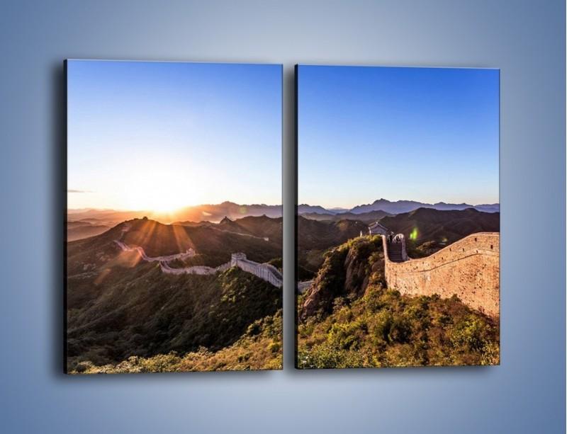 Obraz na płótnie – Za górami za lasami – dwuczęściowy prostokątny pionowy KN1084A