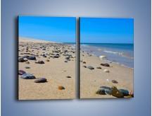 Obraz na płótnie – Całe morze kamyczków – dwuczęściowy prostokątny pionowy KN1086A