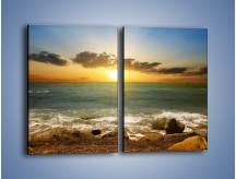 Obraz na płótnie – Brzegiem w stronę morza – dwuczęściowy prostokątny pionowy KN1092A