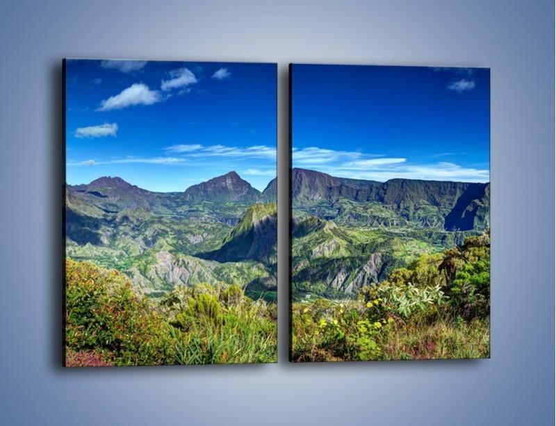 Obraz na płótnie – Zieleń ukryta wysoko w górach – dwuczęściowy prostokątny pionowy KN1106