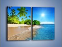 Obraz na płótnie – Bajeczne wakacyjne wspomnienia – dwuczęściowy prostokątny pionowy KN1110A