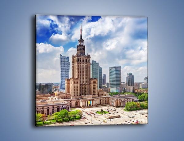 Obraz na płótnie – Pałac Kultury i Nauki w Warszawie – jednoczęściowy kwadratowy AM806