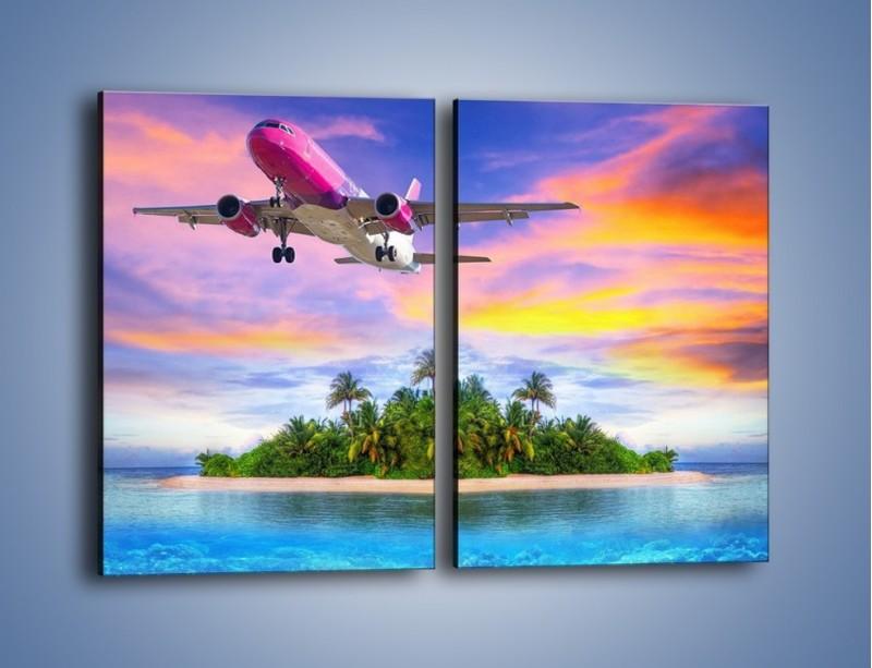 Obraz na płótnie – Powrót z bajkowych wakacji – dwuczęściowy prostokątny pionowy KN1157A