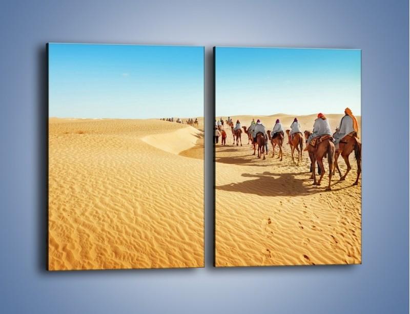 Obraz na płótnie – Szła karawana przez pustynię – dwuczęściowy prostokątny pionowy KN1173A