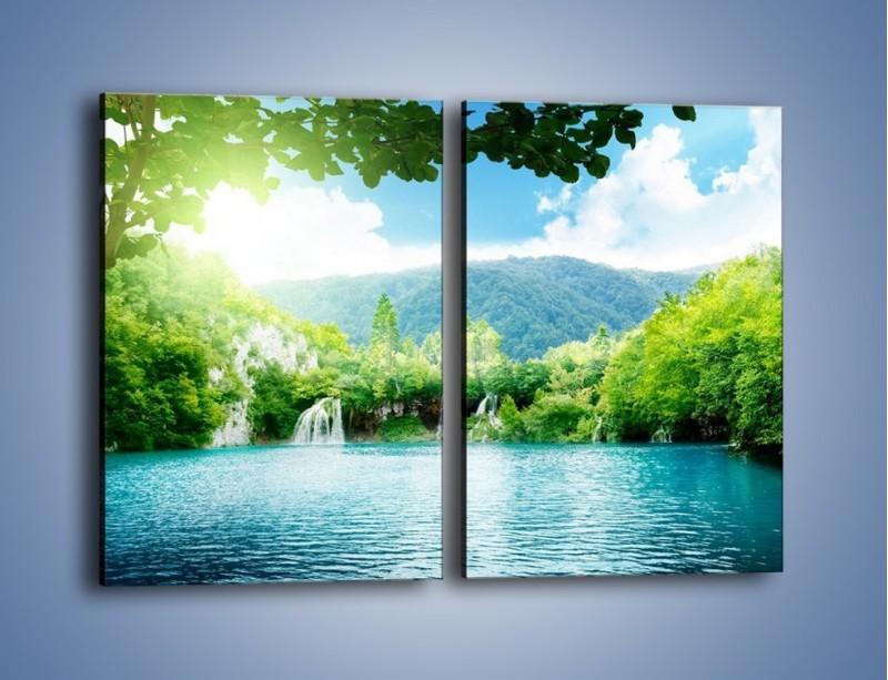 Obraz na płótnie – Kąpiel w chłodnej wodzie – dwuczęściowy prostokątny pionowy KN1200A