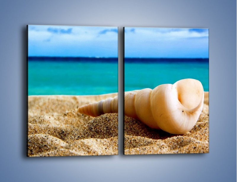 Obraz na płótnie – Czy uda się zobaczyć ślimaka – dwuczęściowy prostokątny pionowy KN1210A