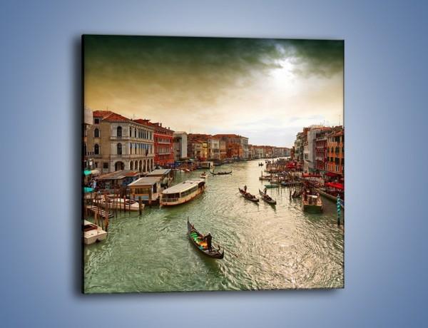 Obraz na płótnie – Wenecka architektura w Canal Grande – jednoczęściowy kwadratowy AM810