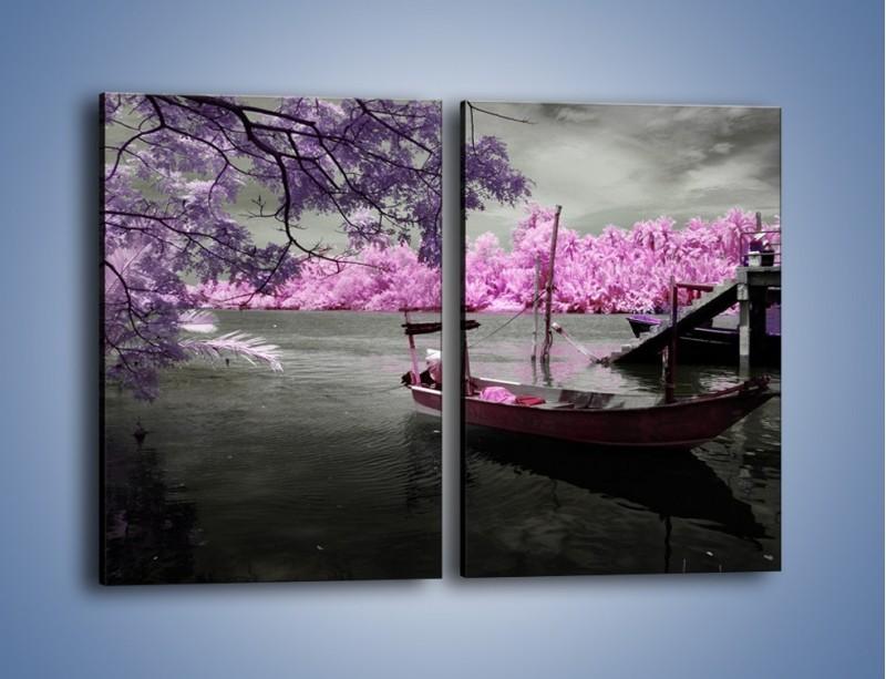 Obraz na płótnie – Krajobraz jak z japonii – dwuczęściowy prostokątny pionowy KN1277A